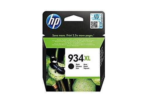 HP 934XL High Yield Black Original Ink Cartridge - Cartucho de Tinta para impresoras (Negro, Alto, 1000 páginas, 0-45 °C, 15-35 °C, 5-80%)