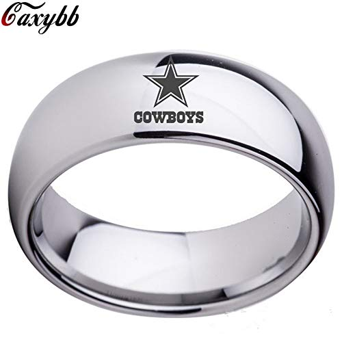 YUKFGH Ring Gift Gift Dallas Cowboys Team Championship Ring Titanium Steel Unisex Jewelry Sport Style for Rugby Fans Gifts-Pic Show 1,13