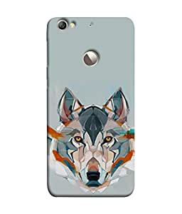 PrintVisa Designer Back Case Cover for LeEco Le 1s :: LeEco Le 1s Eco :: LeTV 1S (unique grey colour shade wild dog wolf)