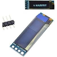 "0,91 Pulgadas OLED módulo de 0,91"" Azul Blanco OLED 128x32 OLED Display LCD LED Módulo de 0,91"" CII Comunicar (Color : White)"