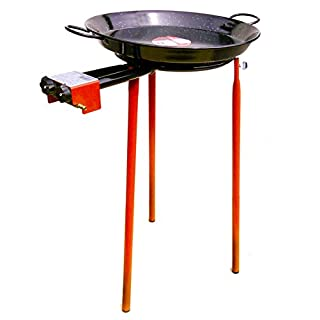Paella Cooking Set Garden Paella Cooking Set-Standard Tripod Stand-42cm -Enamelled Paella Pan with 350mm Burner