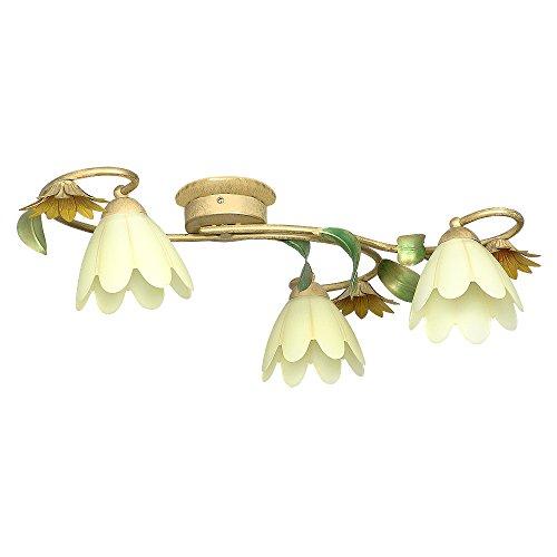 Deckenlampe Deckenleuchte Jugendstil Art Gold Blumen