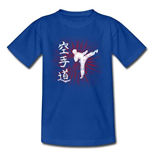 Spreadshirt Karatédo Karate Kampfsport Kampfkunst Selbstverteidigung Kinder T-Shirt, 110/116 (5-6 Jahre), Royalblau
