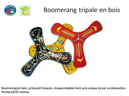 Boomerang enfant en bois tripale, artisanat Français