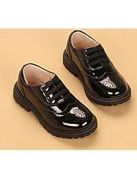 aemember Boys 'zapatos ETTE Otoño Invierno comodidad Zapatillas para Casual negro/blanco negro, US9.5 / EU26 / UK8.5 Toddle, negro