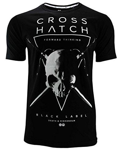 CROSSHATCH Herren T-Shirt Bladeskull Black