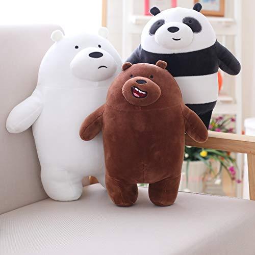 VINSP - Stuffed & Plush Animals - 27cm Kawaii We Bare Bears Plush Toy Cute Bear Stuffed Grizzly Gray White Bear, Panda Doll Childrens Love Birthday Gift - by