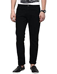 Urbano Fashion Black Slim Fit Stretch Jeans for Men