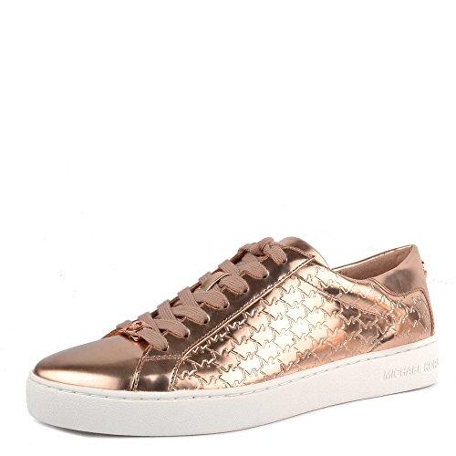 MICHAEL by Michael Kors Zapatos Colby Zapatillas de Cuero Oro Mujer