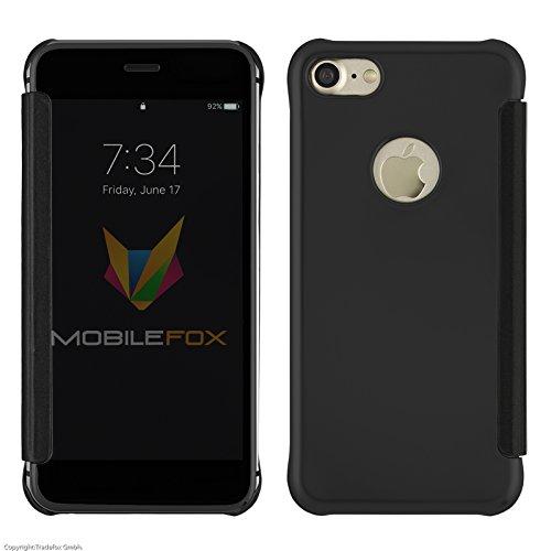 mobilefox-clear-view-spiegelcase-flip-cover-schwarz-rose-blau-silber-apple-iphone-7-schwarz