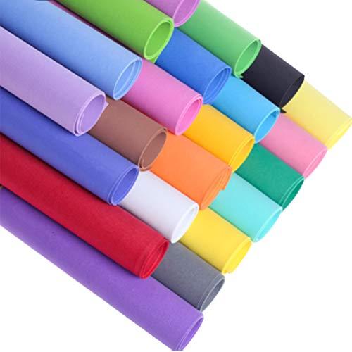 Toyvain dickes EVA-Schaum Papier für DIY Handwerk Materialien Scrapbooking Karton-Dekoration (verschiedene Farben, 1 mm) -