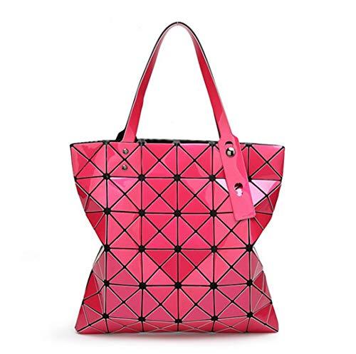 Dooney Bourke Leder Taschen (Geometrische Diamant-Gitter-Einkaufs-Faltende Tasche der Farbjapaner-Frauen 15)