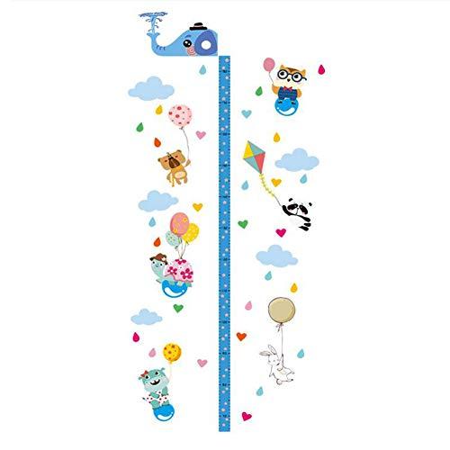 Queta Cuadro de crecimiento de los niños, extraíble 3D EVA Elefante Encabezado Medición de la altura de los niños Etiqueta de la pared del hogar calcomanías para la habitación de los niños
