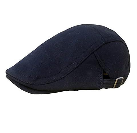 iTemer Flatcap Barett Erwachsene Mütze verstellbare Schildmütze (Schwarz) (Schildmützen Herren)