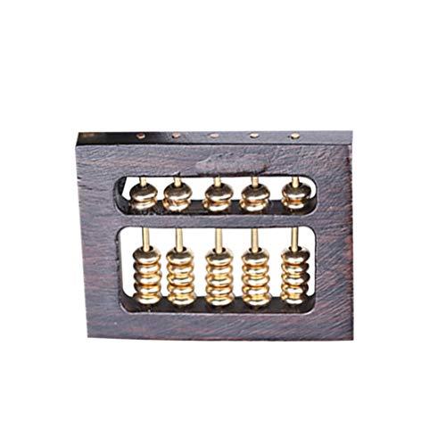 Healifty Holz Charm Anhänger DIY Handwerk Abakus Form Charm Schmuck Machen Lieferungen für Armband Schlüsselanhänger Halskette