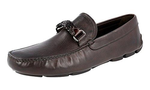 Prada 2DD134 8QW F0003, Herren Mokkasins, Braun - Braun - Größe: 43 - Prada Schuhe Männer Kleid