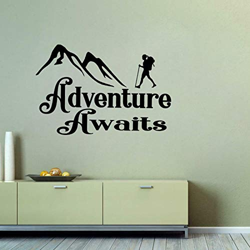 Sticker Wand65 Cm * 43,5 Cm Abenteuer Erwartet Aufkleber Camper Stiefel Trail Schlafsack Art Home Pvc Wandaufkleber