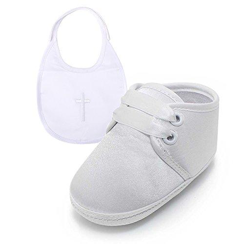 c7ee3e6bee0c4f DELEBAO Scarpe per Battesimo o Un Matrimonio Scarpe Primi Passi Bambini  Bianco Sole Bambino Scarpe Stringate