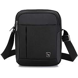 OIWAS Borsello Uomo Tracolla Borse a Spalla Piccola Borsa Messenger Bag per Mini iPad Viaggi Vacanza Escursione Camminare Gita Nero
