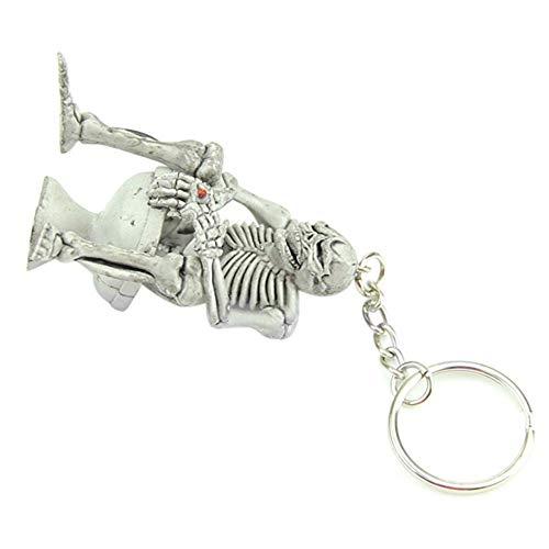 Vektenxi Premium Qualität Kreative Schädel Wc Handtasche Tasche Gummi Schlüsselbund Geschenk Schlüsselanhänger Schlüsselanhänger