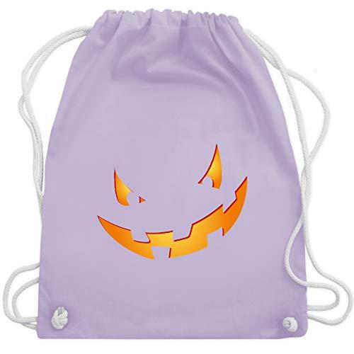 Halloween - Kürbisgesicht klein Pumpkin - Unisize - Pastell Lila - WM110 - Turnbeutel & Gym Bag