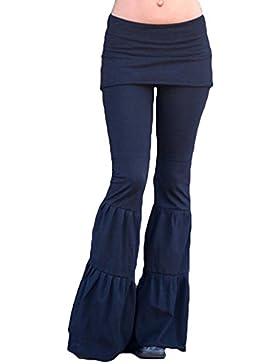 Mujer Pantalones Bootcut cintura alta - Hibote Mujeres Pantalones Casual Pantalones modernos largos sólidos Pantalones...