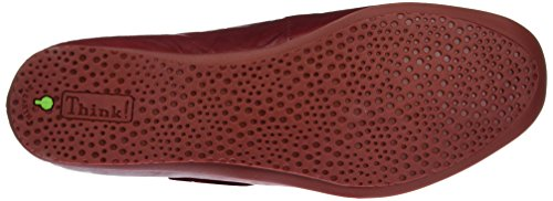 Think! Chilli, Mocassins Femme Rouge (Rosso/Kombi 72)