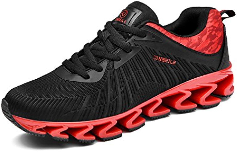 Herren Sportschuhe Fitness Geschlossene Schnür Sneakers Atmungsaktiv Dämpfung Leichte Rutschfest Laufschuhe