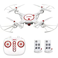 BigFox Syma X5UC RC Quadcopter Drone Copter Helicopter 2.4G 4 Channel 6-Axis Gyro With 2MP HD Camera One Key Take-off Landing Function and Two Batteries from BIGFOX