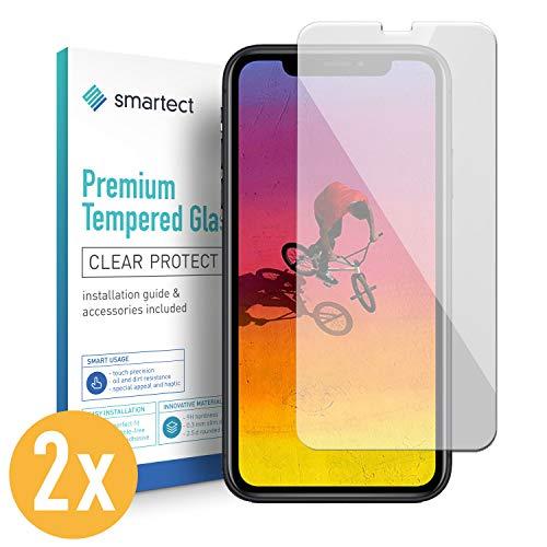smartect Panzerglas für iPhone XR [2 Stück] - Displayschutz mit 9H Härte - Blasenfreie Schutzfolie - Anti Fingerprint Panzerglasfolie