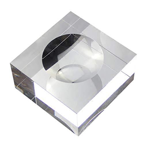 JUSTDOLIFE Tisch Kristallkugelständer Verschiedene Typen Klarer Ausstellungsstand für Tischdekor (Klare Kleine Ornamente Glaskugel)