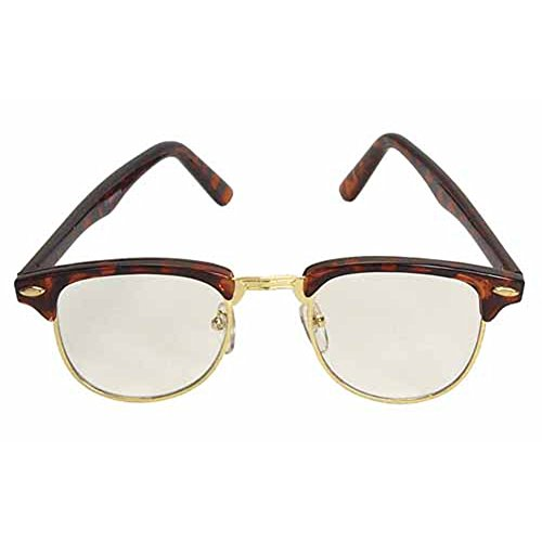 MyPartyShirt Nerdy Soho Glasses With Tortoise and Gold Frames