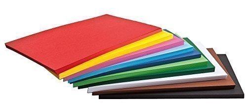 farbpapier 500 Blatt Tonkarton Tonpapier DIN A4 viele Farben 160g/qm Großhandelspackung farbig sortiert Tonpapier Karton Papier Zeichpapier Bastelpapier Bastelkarton