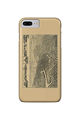Stockton, California Panoramic Map (iPhone 7 Plus Cell Phone Case, Slim Barely There)