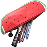 MK Creative Fruit Shape Pencil Cases PU Material With Zipper Pouch Pencil Bag Assorted Colors