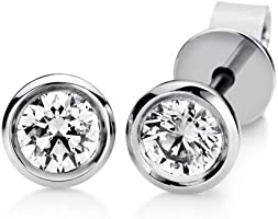 Diamant Ohrstecker Solitair 0,21 ct. TW-si (Weißgold 750) Diamant Ohrringe