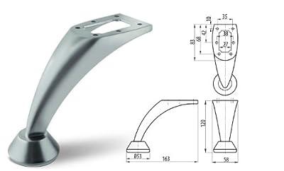 Steel Leg For Furniture Cabinet / Furniture / Sofa / Beds / TV Cabinet Chrome 120 mm