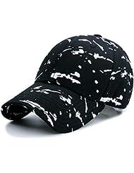 L-MEIQUN,Gorra de béisbol Transpirable con Estampado de Graffiti + Ajustable para Cabeza de 56-60 cm(Color:Negro)