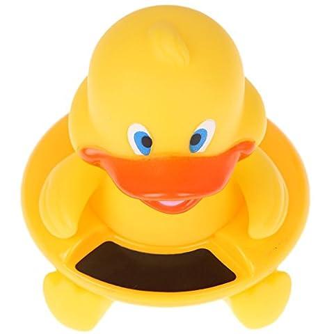 Baby Badethermometer Premium schwimmende Ente Form Wasser Temperatur Sensor von max Stärke ideal als Bad Spielzeug für Kleinkinder, Kinder, Jungen und Mädchen, klar groß Lesen, Ihres Kindes Safety First.