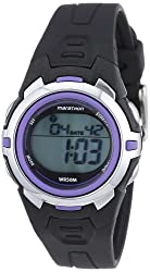 Marathon by Timex Womens T5K364 Digital Mid-Size Black/Purple Resin Strap Watch