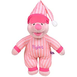 Disney Winnie the Pooh & Friends Plush Character With Striped Sleep Suit Piglet