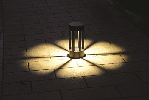 LED Außen-Sockelleuchte Stehleuchte Monaco Aluminium schwarz Außenlampe 7,5W Wegeleuchte Gartenbeleuchtung Wegelampe (Sockelleuchte 22cm)
