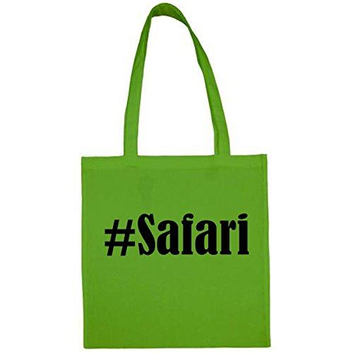 Tasche #Safari Größe 38x42 Farbe Grün Druck Schwarz - Safari-grün-erwachsenen-shirt