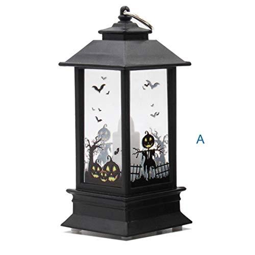 Lichter, Halloween Themed,Simulierte Kürbis Hand Schläger Hexe Flamme Licht Öllampe Halloween Kerze mit LED Teelicht Kerzen für Halloween Deko Party (Colour A) ()