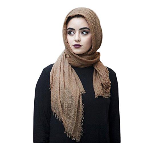 SAFIYA - Hijab Kopftuch für muslimische Frauen I Islamische Kopfbedeckung 75 x 180 cm I Damen...