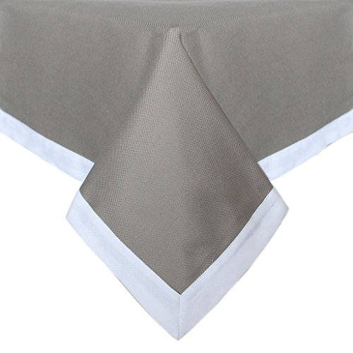 Sorrento 152,4 x 213,4 cm Poly/Coton Toile Gris en tissu avec table Patchwork Blanc Chiffon p4516