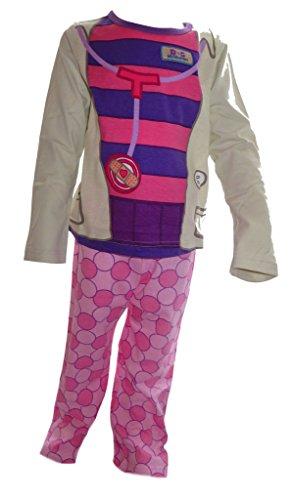Doc McStuffins, Spielzeugärztin Mädchens Neuheit Kostüm Pyjamas Alter 3-4 (Kostüme Mcstuffins Kinder Für Doc)