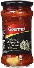 Gourmet - Pimientos del piquillo en tiras al ajillo - Extra - 290 g - [Pack de 6]