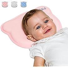 Almohada para Bebe Ortopédica para Cabeza Plana con dos cobertores extraíbles, para prevenir / curar la plagiocefalia | Cojín para Cuidado de la Cabeza para el correcto posicionamiento del niño perfecto para el cochecito de niño, cama y cuna - KoalaBabycare - Perfect Head