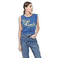 Bershka Crop Tops For Women, Blue, S